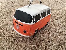 NEW Detailed Orange VW Bus Volkswagen Westfalia Van Bird House Birdhouse Rare