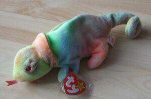 Ty Beanie Babies - Rainbow - Chamäleon Chameleon - unbespielt