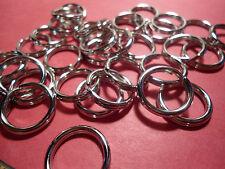 """25  Nickel Plated Steel  Key Split Rings 1/2"""" ID - Standard Gauge"""