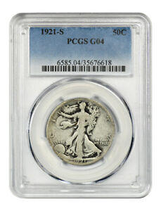 1921-S 50c PCGS Good-04 - Key Date - Walking Liberty Half Dollar - Key Date