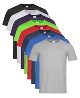 BLACK GREY GREEN RED BLUE Plain Classic-T Fitted 100% Cotton T-Shirt Tee Shirt
