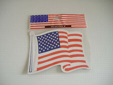 US MAGNET FAHNE FLAG FLAGGE Stars & Stripes Auto Stern Star weiß rot red of USA