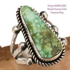 TURQUOISE RING  Spiderwebbed Sterling Silver ALBERT JAKE 8.75 Native American