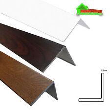 PLASTIC UPVC PVC CORNER 90 DEGREE ANGLE TRIM 2 X 2.5M VARIOUS SIZES AND COLOURS