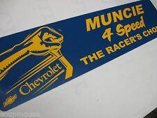 "Vintage,Muncie Four Speed,Transmission,GM,Auto,Muncie,Indiana, Alum.Sign,6""x24"""