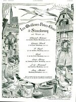 Publicité ancienne foies gras Strasbourg 1936 L  PH Kamm issue de magazine