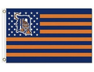 Detroit Tigers 3x5 American Flag. US Seller. Free shipping within the US!!!