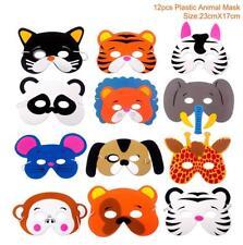 Animal Masks Childrens Birthday Party Jungle Safari Theme Latex Materials 12 Pcs