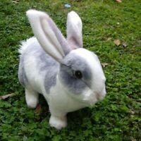 lovely realistic animal pet rabbit plush toy stuffed bunny doll gift 29x17cm