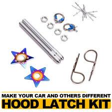 Universal Racing Auto Engine Lock Bonnet Car Plus Flush Hood Latch Pin Kit Star