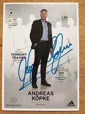 Andreas Köpke 1. AK DFB 2014 Autogrammkarte hinten original signiert