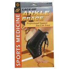 Sport Medicine Lace-Up ANKLE BRACE Support M SP-105D Spring Steel Stays UNISEX