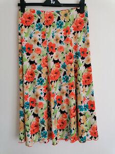 NEW Kim&Co Mandarin Multi Floral Skirt M