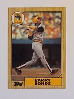 1987 Topps Barry Bonds Baseball Rookie Card (RC) #320 - Pirates - Giants