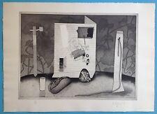 WOLFGANG Zeißner ZEISSNER (1942) Grande Gravure de 1975 Art Symbolisme Signée