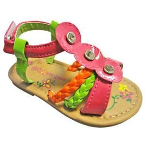 Toddler Girls Summer Gladiator Flat Sandal Butterfly Thong Shoe Sz 5-10