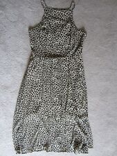 WOMENS ABERCROMBIE & FITCH A&F ANIMAL PRINT STRAPPY GORGEOUS FLOWY DRESS LARGE