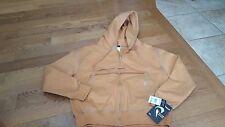 Pulse Wear boys brown fleece lined zip hooded jacket size L NWT $59