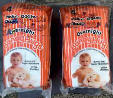 Vintage Bunnyhugs Naf Ultra Diapers Overnight Lot of 8 Medium Nos