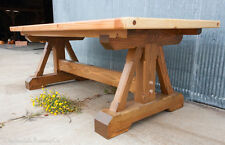 """84"""" x 40"""" x 30"""" Rustic Timber Dining Table (Finished)"""