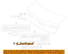 HYUNDAI OEM 17-18 Elantra Trunk Lid-Emblem Badge Nameplate 86318F2100