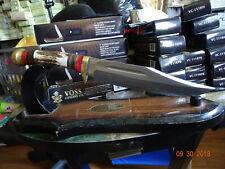 Couteau Bowie Frost Cutlery Manche Bois de Chevreuil Acier 3Cr13 Etui FTS176