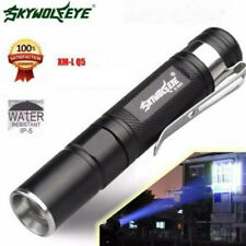 Waterproof 8000LM Pocket LED Flashlight Zoomable LED Torch Mini Penlight Light