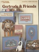 Gertrude & Friends Cross Stitch Patterns 1986 Leisure Arts # 468 Country Goose