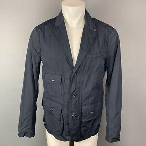 RLX by RALPH LAUREN Größe M Marineblau Nylon/Baumwolle Kerbe Revers Jacke