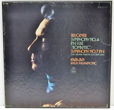 BRUCKNER SYMPHONY NO.4  -  Karajan, Berlin Philharmonic  -  3LP Box Set  NM