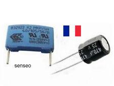Kit de RÉPARATION PANNE SENSEO condensateur EPCOS MKP 0,47µF 250V/305V 470uf 25v