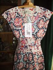 Laura Lees @ Topshop 50's Tea Dress Vintage Style Skulls Embroidery Small BNWT