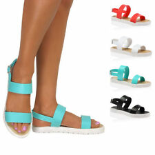 Evening Strappy, Ankle Straps Synthetic Flats for Women