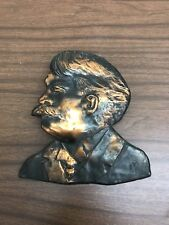 Antique Copper Teddy Roosevelt Bust Wall Hanging
