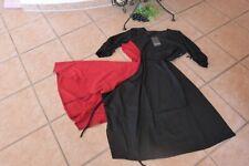 BORIS INDUSTRIES Kleid 48 50 (5) NEU! schwarz rot A-Form asymetrisch LAGENLOOK