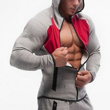 Men Bodybuilding Hoodies Gym Fitness Clothing Male Slim Fit Hood Casual Sweater