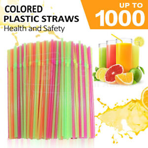 Multi Colored Straws BPA-Free Bendable Disposable Drinking Plastic Party Straws