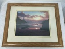 BRAND NEW: OCEAN SUNSET PHOTO PROFESSIONALLY FRAMED & DOUBLE MATTED ~ CLO