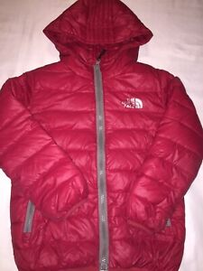 The North Face Summit Series 120 Down Fill Red Puffer Jacket Youth Size Small