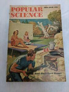 Popular Science June 1948 - Back-Yard Resort, Camels Back Cover Ad