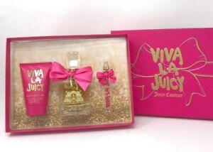 Juicy Couture Viva La Juicy - for Woman 3 Pieces Gift Set Hard Box