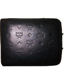 Authentic MCM Monogrammed Men's Bifold Leather Wallet