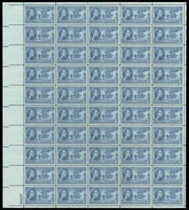 US Stamp - 1950 Indiana Territory - 50 Stamp Sheet - Scott #996