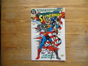 1993 VINTAGE DC REIGN OF THE SUPERMAN # 79 SIGNED DAN JURGENS, WITH POA