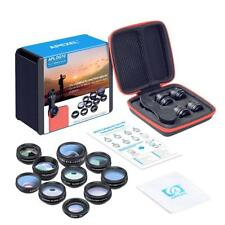 Universal 10 in1 Clip On Camera Lens Kit Fisheye+Wide Angle+Macro For Cell Phone