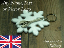 Personalised cute mini ajustable metal spanner charm tool funny keyring occasion