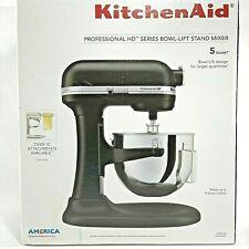 Kitchen Aid Professional HD Series 5 Qt BowlLift Stand Mixer KG25H0X Matte Black