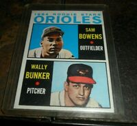1964 Topps Baltimore Orioles Rookie Stars Baseball Card - Wrong back - Error -