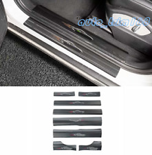 8PCS Carbon Fiber Side Door Sill Guards Plate Trim For Porsche Macan 2014-2019