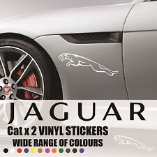 JAGUAR CAT DECALS - Vinyl Stickers - CAR LAPTOP WINDOWS Graphics Logo badge x2